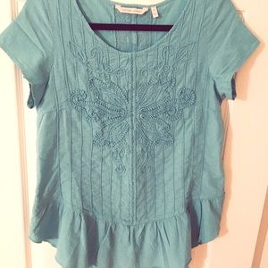 Soft surroundings turquoise top, new, never worn